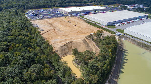 A 133,000-square-foot warehouse to be occupied by DuPont is set to rise on this site in the James River Logistics Center. (Courtesy of Dennis McWaters Photography)